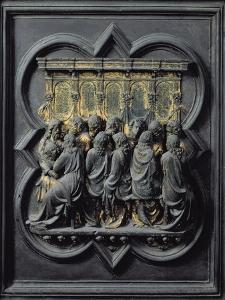The Last Supper, Twelfth Panel of the North Doors of the Baptistery of San Giovanni, 1203-24 by Lorenzo Ghiberti