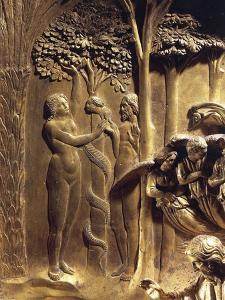 The Original Sin, Detail from the Stories of the Old Testament by Lorenzo Ghiberti