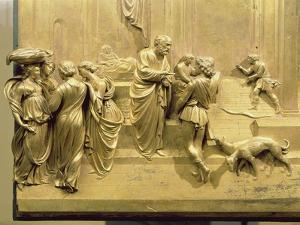 The Story of Jacob and Esau, Detail from the Original Panel from the East Doors of the Baptistery by Lorenzo Ghiberti