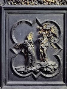 The Temptation of Christ, Sixth Panel of the North Doors of the Baptistery of San Giovanni, 1403-24 by Lorenzo Ghiberti