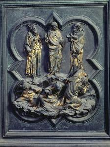 The Transfiguration, Ninth Panel of the North Doors of the Baptistery of San Giovanni, 1403-24 by Lorenzo Ghiberti