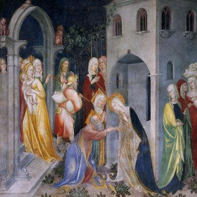 Scenes from the Life of Saint John the Baptist, Mary Taking Leave of Elizabeth and Zacharias