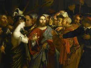 Le Christ et la femme adultère by Lorenzo Lotto