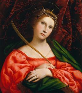 St. Catherine, 1522 by Lorenzo Lotto