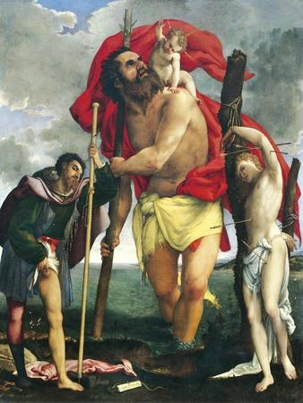 St Christopher Between Saints Rocco and Sebastian, 1532-1535