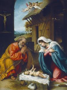 The Nativity, 1523 by Lorenzo Lotto