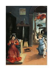 The Recanati Annunciation, Circa 1532 by Lorenzo Lotto