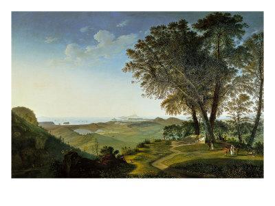 View of the Campi Flegrei (Phlegraean Fields) from Camaldoli