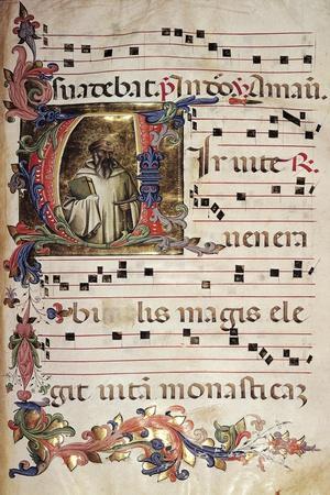 Miniature, Choir of Saint Romuald, Italy 15th Century