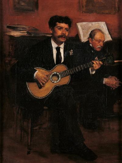 Lorenzo Pagans and Auguste Degas-Edgar Degas-Art Print