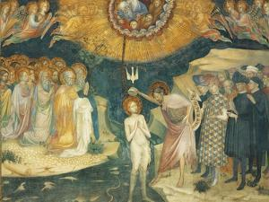 Baptism of Christ, Scene from Stories of John Baptist, 1416 by Lorenzo Salimbeni