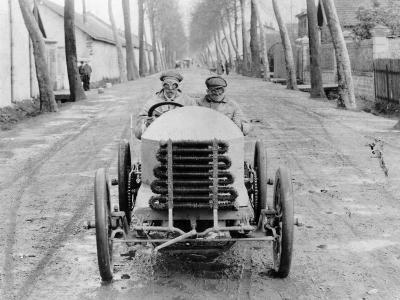 Lorraine Barrow at the Wheel of a De Dietrich, Paris to Madrid Race, 1903--Photographic Print