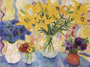 Table of Flowers by Lorraine Platt