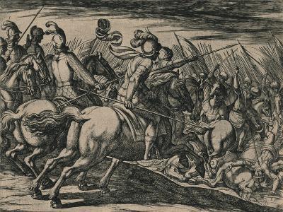 Los 200 cavalleros compañeros de los siete Infantes, cercados de la muchedumbre de los Moros...--Giclee Print