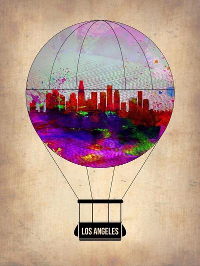Los Angeles Air Balloon 2-NaxArt-Art Print