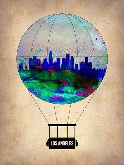 Los Angeles Air Balloon-NaxArt-Art Print