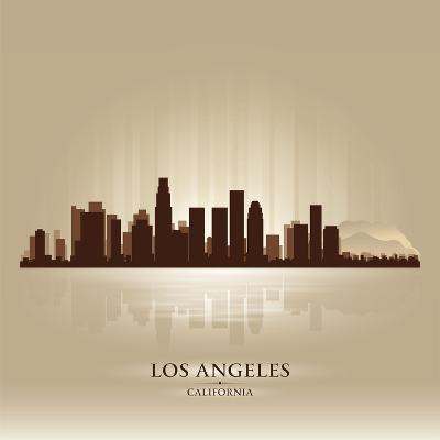 Los Angeles, California Skyline City Silhouette-Yurkaimmortal-Art Print