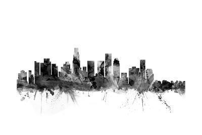 Los Angeles California Skyline-Michael Tompsett-Art Print