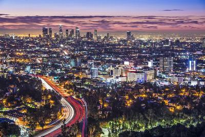 Los Angeles, California, USA Early Morning Downtown Cityscape.-SeanPavonePhoto-Photographic Print