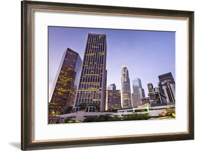 Los Angeles, California, USA Early Morning Downtown Cityscape.-SeanPavonePhoto-Framed Photographic Print