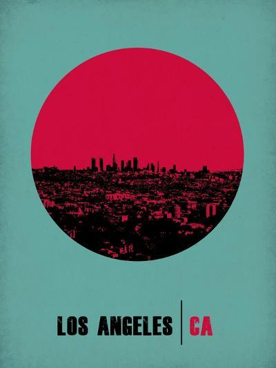 Los Angeles Circle Poster 1-NaxArt-Art Print