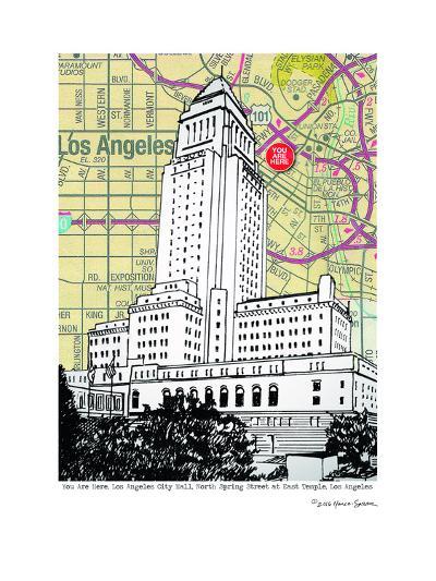 Los Angeles City Hall--Art Print
