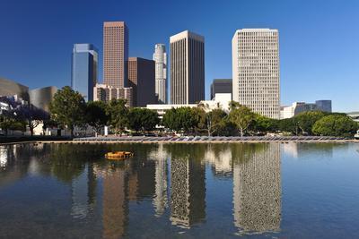 Los Angeles City Skyline-rebelml-Photographic Print