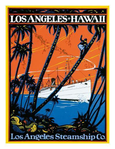 Los Angeles-Hawaii, Los Angeles Steamship Company, c.1920s--Giclee Print