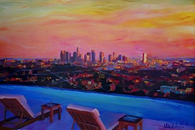 Los Angeles Infinity Skyline with Infinite View Pool-Markus Bleichner-Art Print