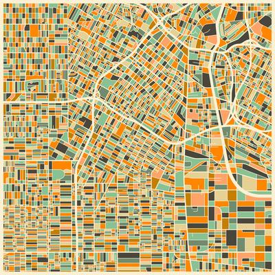 photo regarding Printable Maps of Los Angeles known as Los Angeles Map Artwork Print through Jazzberry Blue