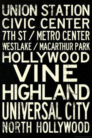 Los Angeles Metro Rail Stations Travel Poster