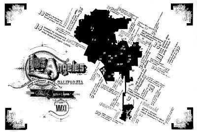 Los Angeles Pop Culture Map-Kyle & Courtney Harmon-Serigraph