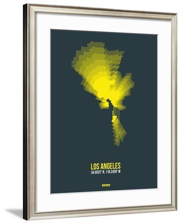 Los Angeles Radiant Map 1-NaxArt-Framed Art Print