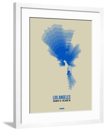 Los Angeles Radiant Map 2-NaxArt-Framed Art Print