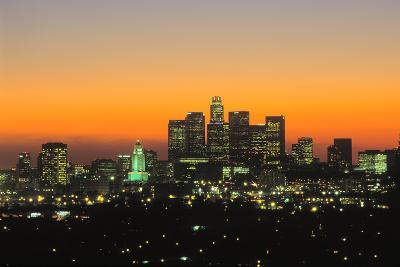 Los Angeles Skyline, California, USA-Peter Bennett-Photographic Print