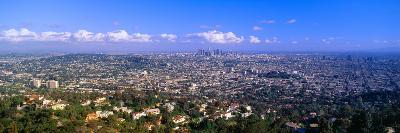 Los Angeles Skyline from Mulholland, California--Photographic Print