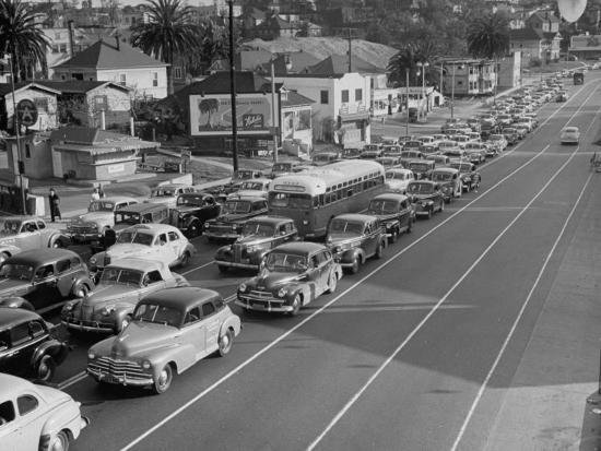 Los Angeles Traffic-Loomis Dean-Premium Photographic Print