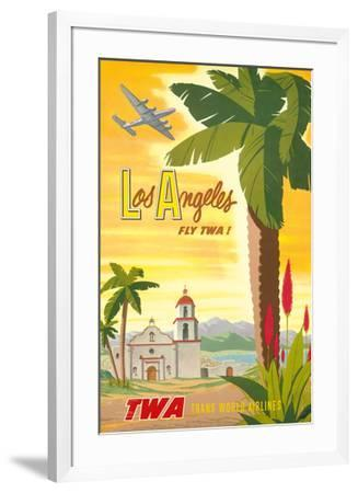 Los Angeles - Trans World Airlines Fly TWA! - California Spanish Mission