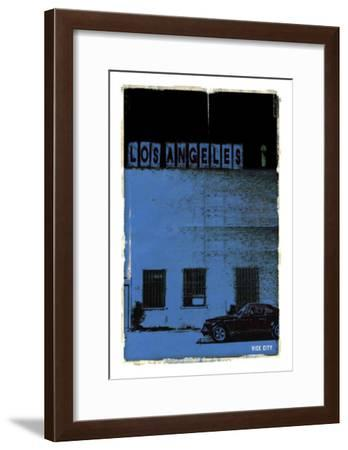 Los Angeles, Vice City in Blue-Pascal Normand-Framed Art Print