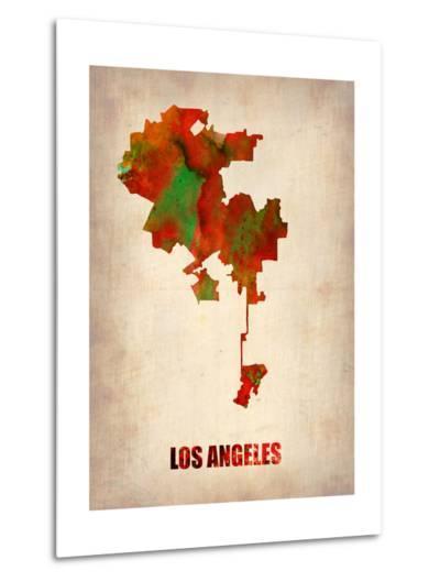 Los Angeles Watercolor Map-NaxArt-Metal Print