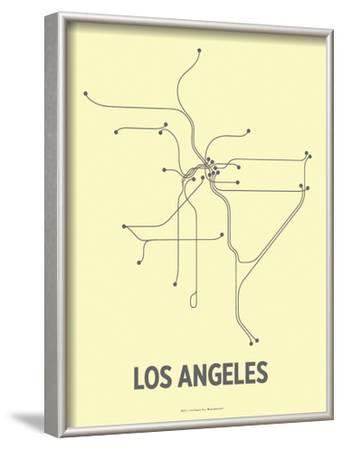 Los Angeles-Line Posters-Framed Art Print
