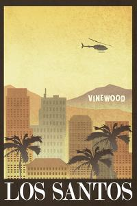 Los Santos Retro Travel Poster