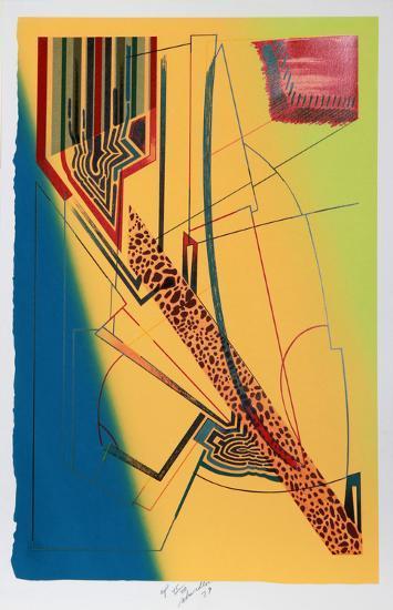 Losing Track-William Schwedler-Serigraph