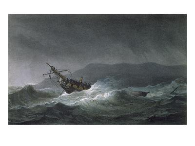 Loss of the Blanche, Off Abrevack, 4th March, 1807, Engraved by T. Sutherland-Thomas Whitcombe-Giclee Print
