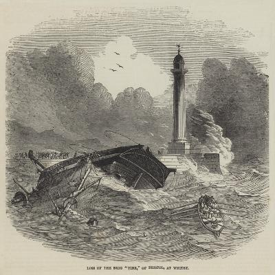 Loss of the Brig Vine, of Bristol, at Whitby--Giclee Print