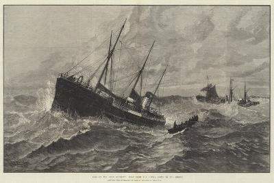 Loss of the Clan Macduff, Boat from the Upupa Going to the Rescue--Giclee Print