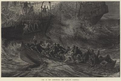 Loss of the Northfleet, the Captain's Farewell-Arthur Hopkins-Giclee Print