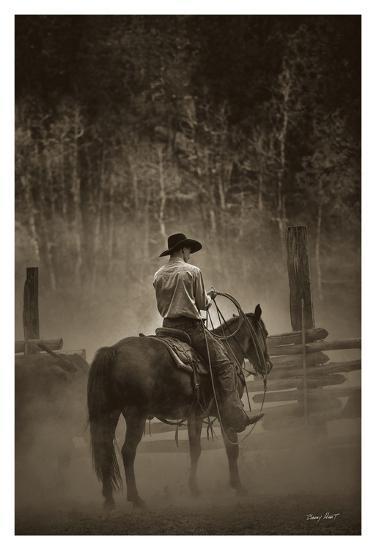 Lost Canyon Cowboy-Barry Hart-Art Print