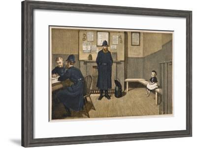 Lost Child/Policeman--Framed Giclee Print