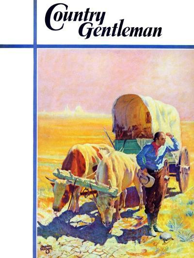 """""""Lost in the Desert,"""" Country Gentleman Cover, July 1, 1938-Charles Hargens-Giclee Print"""